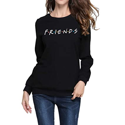 WSIHBT@ Sweatshirt S Friends Letter Print Women Hoodies Sweatshirt Winter Spring Thicken Harajuku Sudaderas Mujer