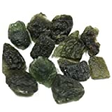 "Moldavite Crystals (1"" - 1-1/4"" & Thick) - 1pc."