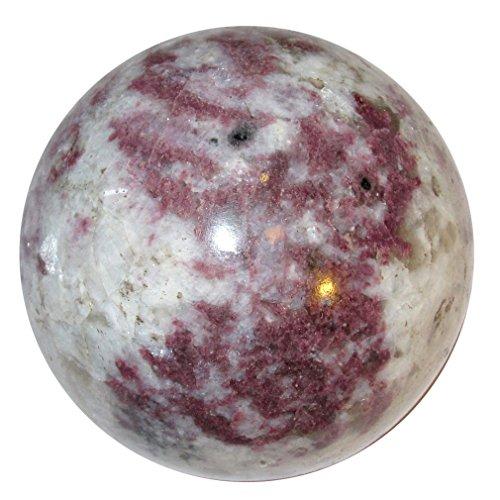 Rubellite Gemstone (Tourmaline Ball Rubellite 52 Bold Pink Red Gemstone Sphere Rare Love Passion Stone Crystal 2.3