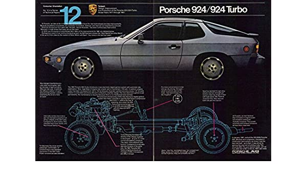 Amazon.com: 1980 Porsche 924 / 924 Turbo Vintage Original 2-Page Magazine Print Ad: Posters & Prints