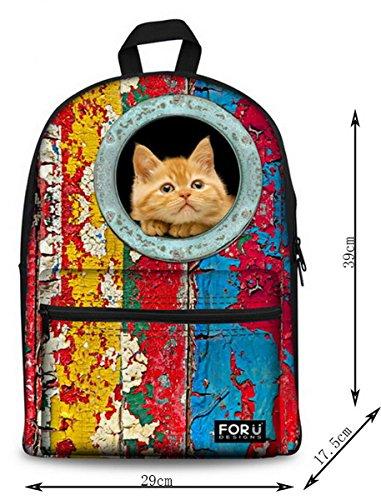 Lilimay Unisex 3D Mochila Estampada Bolsas de Galaxy perro gato Bolso Animal Casual Daypack para Hombres Mujer Ni?os Ni?as Senderismo Viaje Deporte, De Escuela De La Mochila, 29x17.5x39cm(L*W*H) rojo