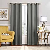 Eclipse Nikki Grommet Blackout Curtain Panel, 84-Inch, Smoke