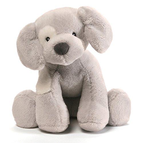 Baby GUND Spunky Dog Stuffed Animal Plush Sound Toy, Gray, ()