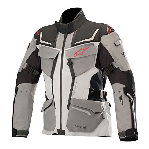 Revenant Gore-Tex Pro Waterproof Motorcycle Riding Jacket for Tech-Air Street Airbag System (4XL, Black Mid Gray Anthracite Red)
