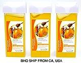 Roll On Hot Depilatory Wax Cartridge Warmer Honey Heater Waxing Hair Removal 3Pcs