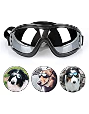 PETLESO Dog Goggles - Large Dog Eye Protection Goggles Windproof Sunglasses for Medium Large Dog