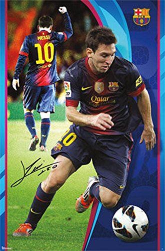 Lionel Messi - FC Barcelona Sports Poster 22 x 34in (Messi Poster Lionel)