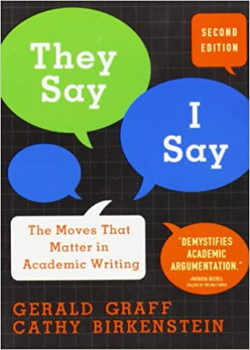 amazon they say i say the moves that matter in academic writing