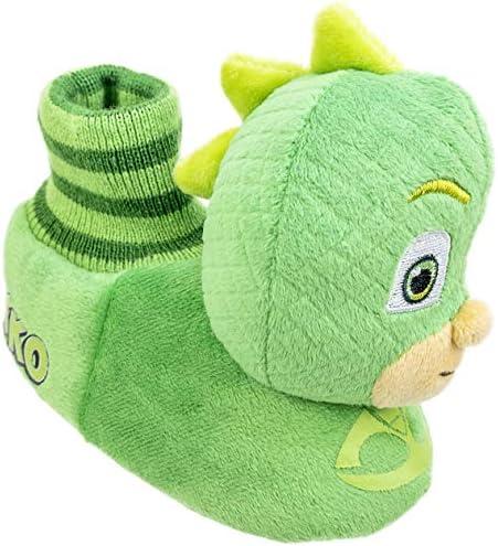 PJ Masks Kids Slippers,Catboy and Gekko,Socktop Slip On Slipper,Toddler Boys and Girls Size 5 to twelve