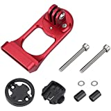Stem Computer Mount Cycling Bike Mount Stem Extension Mount Holder for Gopro Computer & Sports Camera (Red)