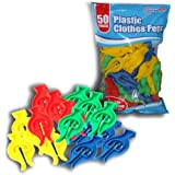 Guaranteed4Less Lot de 50 pinces à linges en plastique