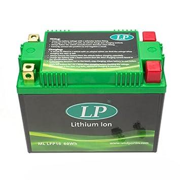 Ma/ße: 150x87x130 12V//10AH YTX12-BS Motorrad Batterie Shido Lithium LTX12-BS