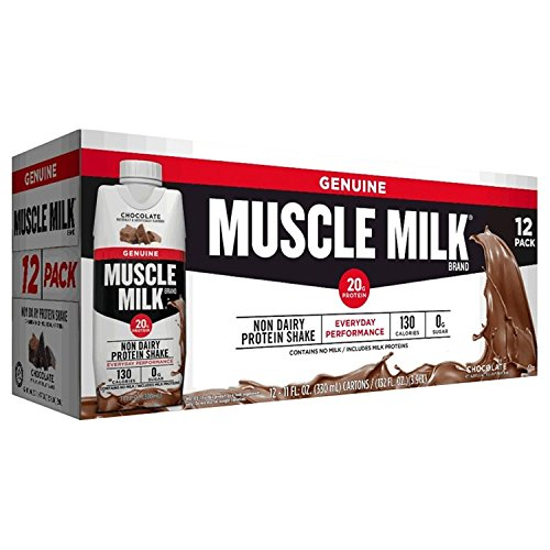 Muscle Milk Chocolate Non-Dairy Protein Shake (11 fl. oz., 12 pk.) (pack of 6) by Muscle Milk