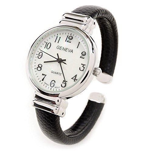 NYKKOLA Classic Small Face Crystal Bracelet Watches Snake Style Band Slim Case Women's Bangle Cuff Watch Quartz Wristwatch (Bracelet Quartz Watch Bangle)