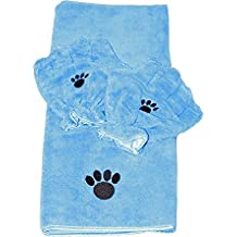 Campanelli Products Pamper Your Pet Microfiber Towel & Mitt Set (Pamper Your Pet Microfiber Towel & Mitt Set, Blue)