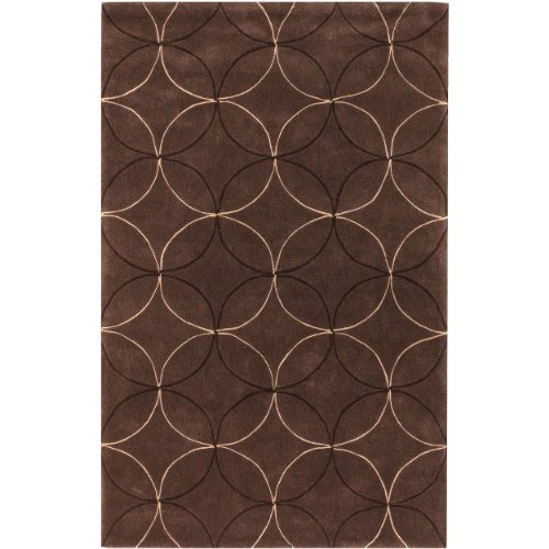Surya Cosmopolitan COS-8868 Transitional Hand Tufted 100% Polyester Hot Cocoa 8' x 11' Geometric Area Rug - 811 Cocoa