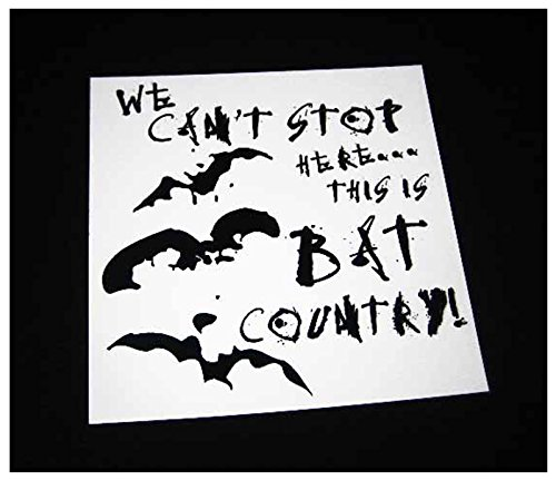 [4.25 in. This is Bat Country Sticker (White)] (Fear In Loathing In Las Vegas Costume)