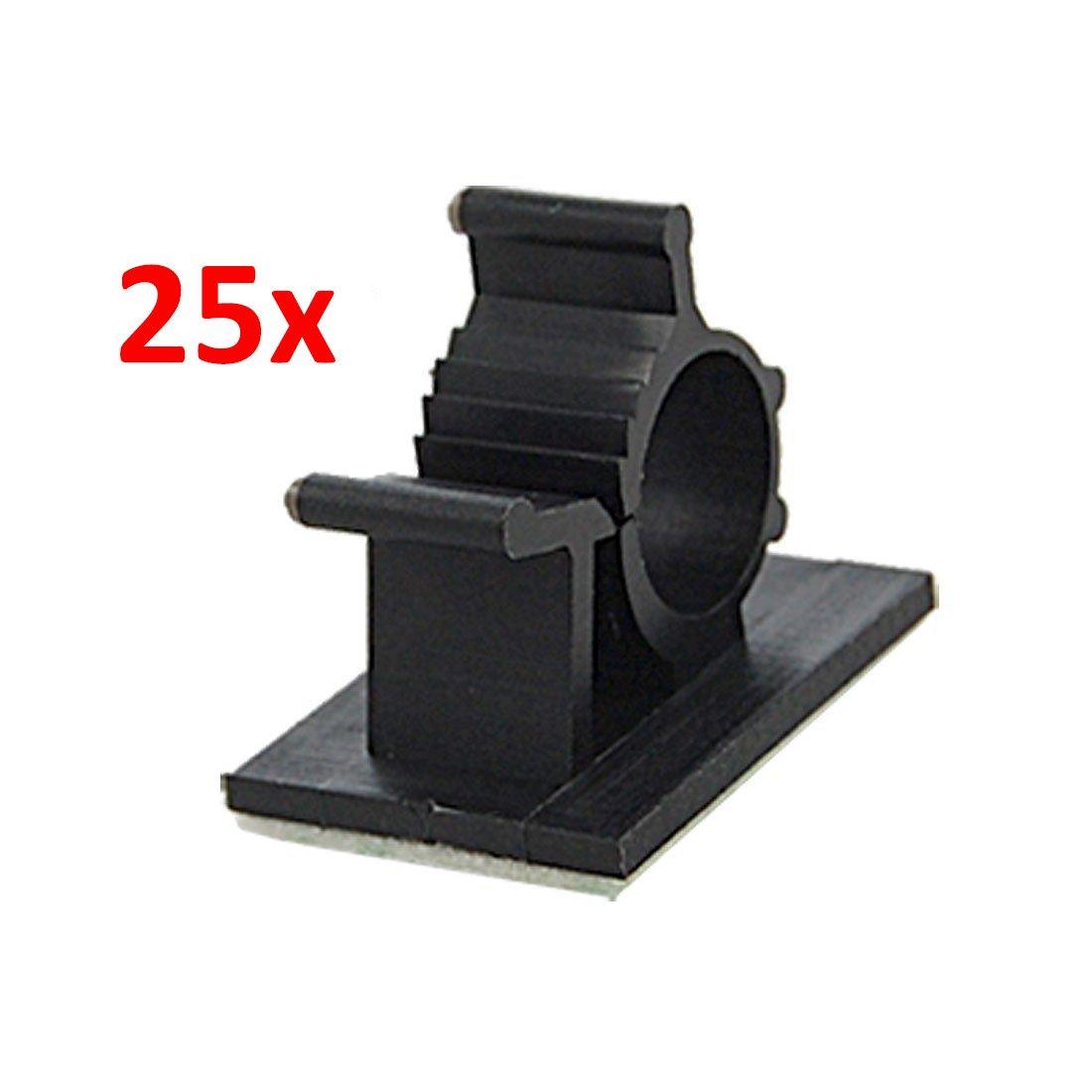 Amazon.com: 25 Pcs Black Adhesive Backed Nylon Wire Adjustable Cable ...