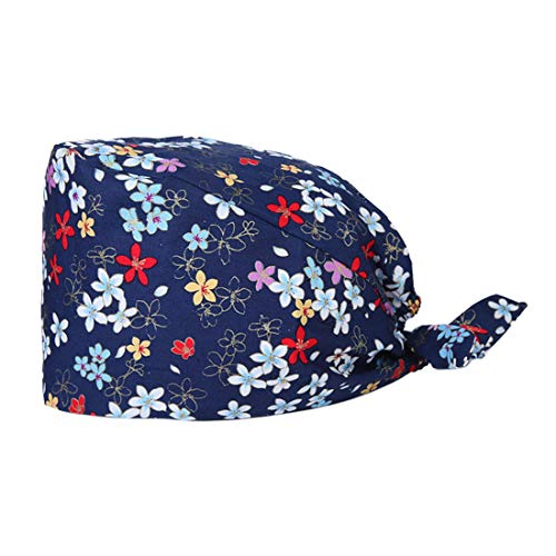 MJL Surgical Scrub Cap Bouffant Work Hat Doctor Surgery Hat Adjustable Sweatband Head Cover