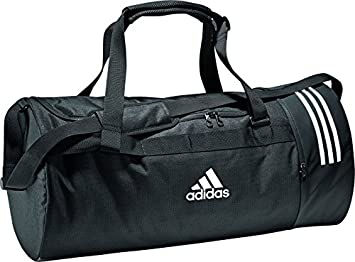 59002de4d3c3 adidas Convertible 3-Stripes Duffel Bag Medium - Black Grey White ...