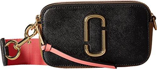 Marc Jacobs Women's Snapshot Camera Bag, Black/Gazelle, One Size