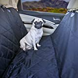 Cheap Devoted Doggy Premium Dog Seat Cover with Hammock Feature – Waterproof Material – Dog Seat Belt Included – Unique Nonslip Backing with Seat Anchors – Black