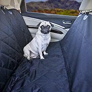 Devoted Doggy Premium Dog Seat Cover with Hammock Feature - Waterproof Material - Dog Seat Belt Included - Unique Nonslip Backing with Seat Anchors - Black
