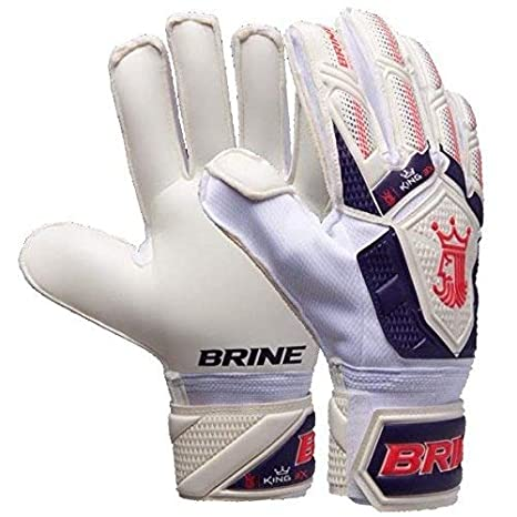 Varzist Goalkeeper Gloves Brine King Match 3X Soccer Goalie Glove Finger  Save Protection Spines (White 7c806fa93088