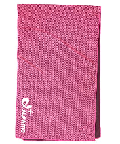 Cooling Towel for Instant Relief, 40 Long As Scarf - XL Ultra Soft Breathable Mesh Yoga Towel - Stay Cool for Running Biking Hiking Golf & All Other Sports, Waterproof Bag Packaging with Carabiner