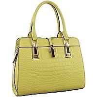 768cbf448fa14 ILISHOP Women s Genuine Leather New Office Lady Casual Vintage Crocodile  Top Handle Tote Shoulder Crossbody Bag Satchel Handbag