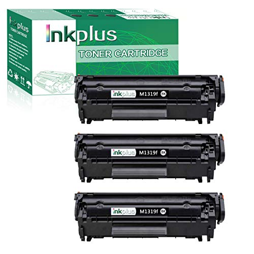 InkPlus Compatible CB536A Toner Cartridge Replacement for HP Laserjet M1319f Multifunction Printer Toner Cartridge,Black(3 Pack).