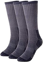 Men's Merino Wool Socks 3 Pairs Hiking Hunting Crew Winter Thermal Socks