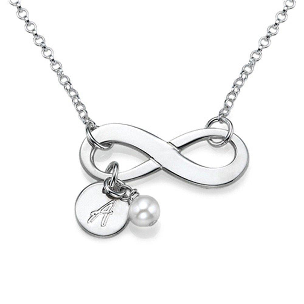 Yandam Letter Custom Infinity Necklace Customize Gift Fashion Name Custom Necklace