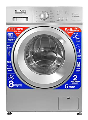 Mitashi 7.0 kg Fully-Automatic Front Loading Washing Machine (WMFA700K100 FL, Silver)
