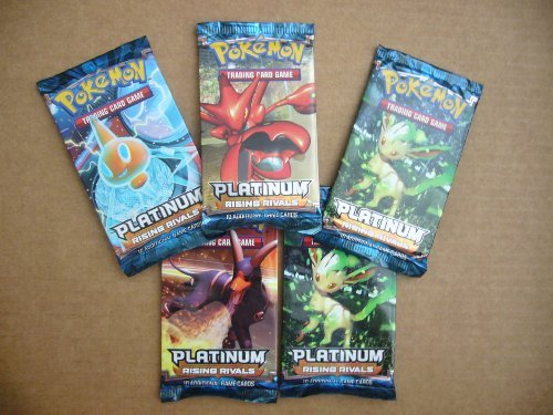 5 PACK LOT - Pokemon - Platinum Rising Rivals Booster Packs - 10 cards each