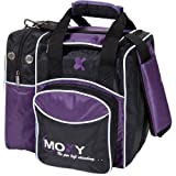 Moxy Deluxe Single Tote Bowling Bag,Purple/Black Review