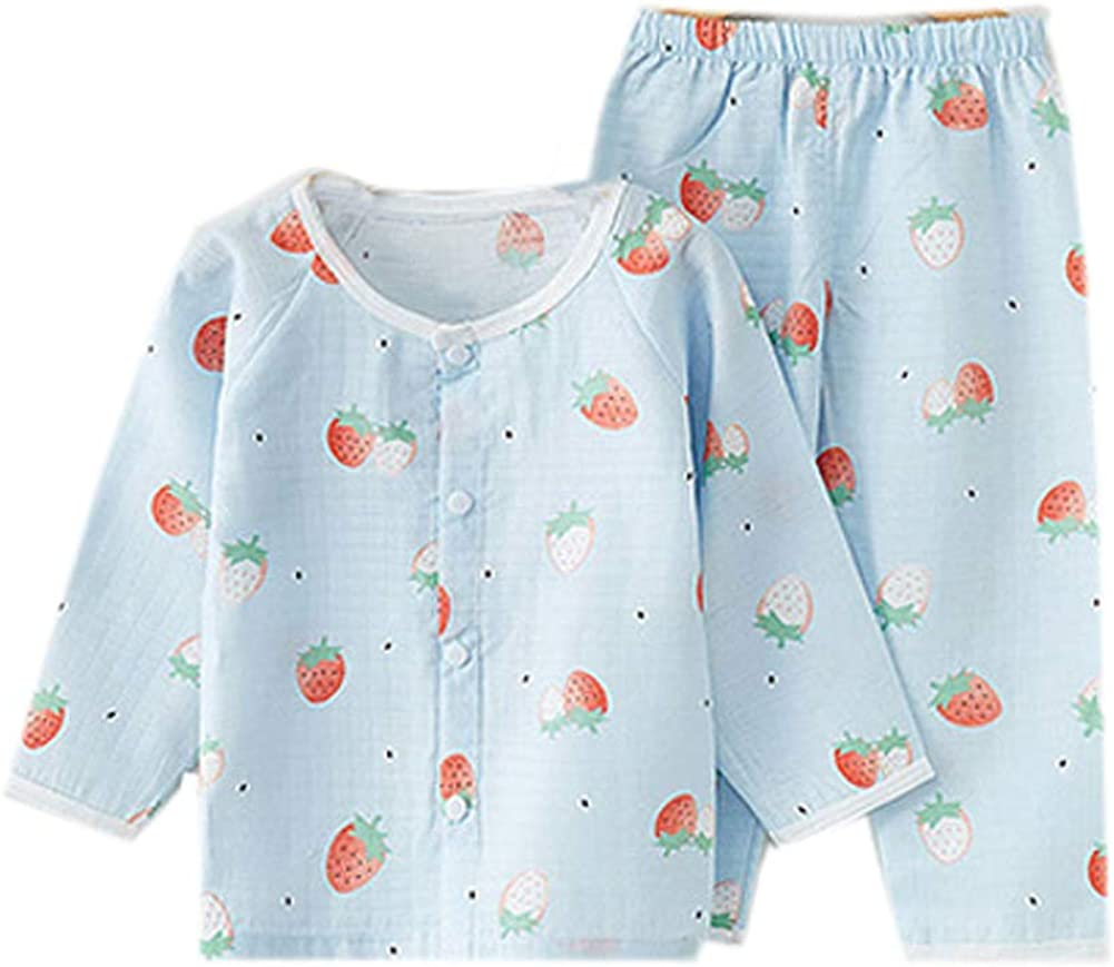 Habigua Little Boys Girls Soft Cute Fruit Pajama Snug Fit Pjs Blue