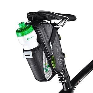 RockBros Cycling Waterproof Saddle Bag Water Bottle Bag Mountain Bike Seat Post Bag Rack Pack Black