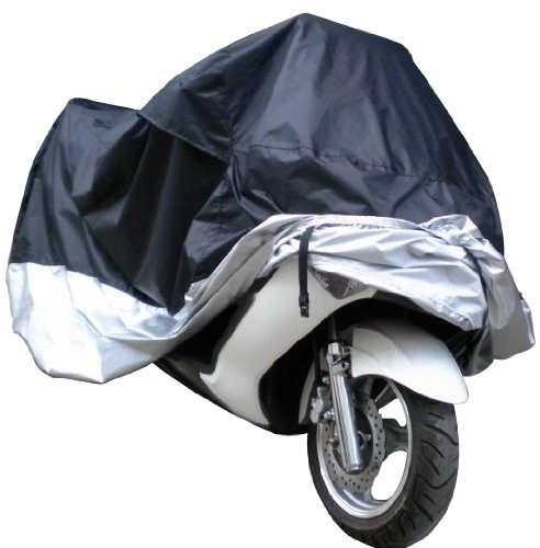 Docooler Waterproof UV Dustproof Cover for Motor Bike/Scooter/Moped, L, (Black)