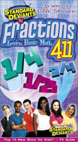 Standard Deviants TV - Fractions 411 (Learn Math Fractions) [VHS]