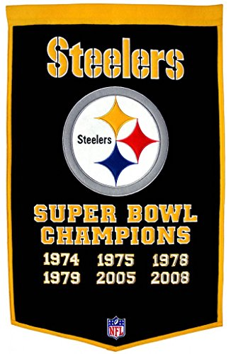 Pittsburgh Steelers Super Bowl XLIII Champions Commemorative Dynasty (Pittsburgh Steelers Throwback Pennant)