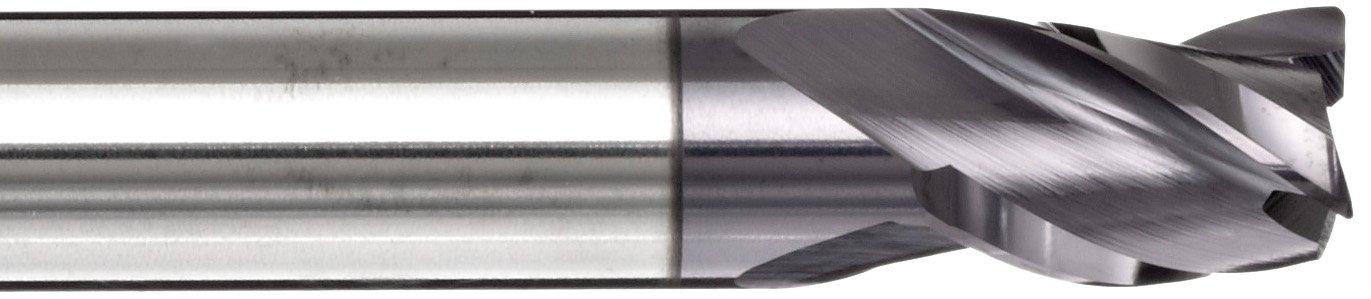 Non-Center Cutting 35 Deg Helix 0.125 Shank Diameter 1.5 Overall Length TIALN Multilayer Finish YG-1 E5075 Carbide Corner Radius End Mill 0.008 Corner Radius 3 Flutes 0.125 Cutting Diameter