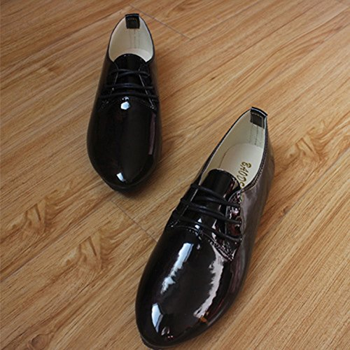 Toe Candy Pointed MISSMAO Comfy Laides Womens Flats Shoes Lace Black Summer Pumps Mode up Color Flats Vintage Loafers tIxxwpS