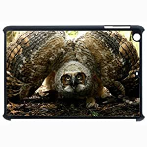 Customized Back Cover Case For iPad Air 5 Hardshell Case, Black Back Cover Design Owl Personalized Unique Case For iPad Air 5