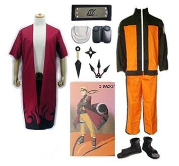 SUNKEE Japonés Anime Naruto Uzumaki Naruto Cosplay Costume ...