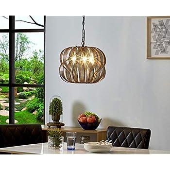 LeeZM Modern Orb Chandeliers Globe Black Gold Brushed 3-Light Pendant Lighting Bronze Vintage Industrial Hanging Lamp Ceiling Light Fixtures for Dining Rooms Living Room Bedrooms Kitchen Foyer