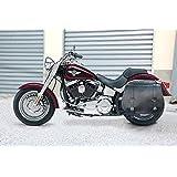Sacoche cavalière. Sacoche Harley Davidson softail La sacoche s'adapte à tous les modèles de moto Harley Davidson Softail jusqu'à 2015: Cross Bones, Fat Boy & Fat Boy Special, Softail standard & Slim, Softail Deluxe, Breakout, Heritage Classic. De plus cette sacoche peut être également installée sur les modèles Yamaha, Kawasaki et Honda custom. Dimensions: L.53cm, H.47cm, P.22cm. Au moment de l'achat indiquer le modèle et l'année de fabrication de la moto.