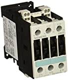 Siemens 3RT10 23-3BB40 Motor Contactor, 3 Poles, Spring Loaded Terminals, S0 Frame Size, 24V DC Coil Voltage