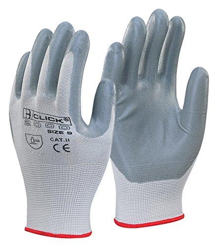 Nitril Schaum Polyester Handschuh grau XL