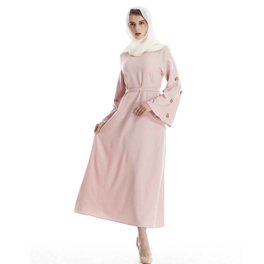 NPRADLA Large Falda Elegante musulmán Abaya Vestido Cardigan túnica Flor Diamante oración islámica Ropa Partido Elegante Moda L: Amazon.es: Ropa y ...